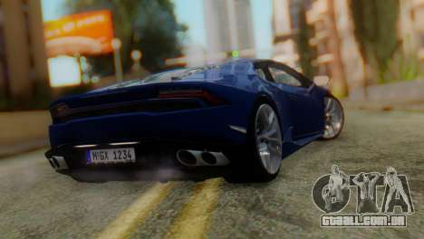 Lamborghini Huracan 2015 para GTA San Andreas esquerda vista