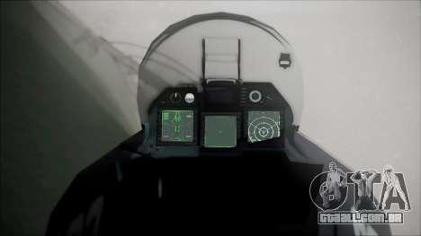 SU-47 Berkut Grabacr Ace Combat 5 para GTA San Andreas vista direita
