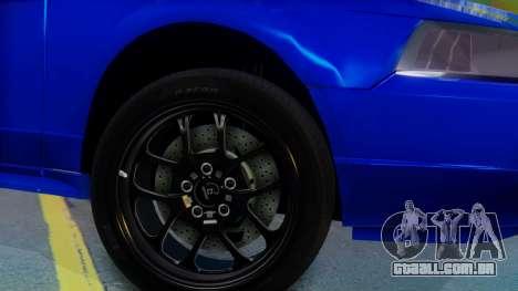 Ford Mustang 1999 Clean para GTA San Andreas traseira esquerda vista