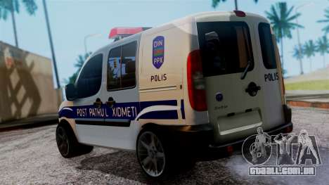 Fiat Doblo PPX para GTA San Andreas esquerda vista