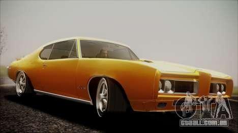 Pontiac GTO 1968 para GTA San Andreas traseira esquerda vista