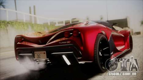 GTA 5 Grotti Turismo R IVF para GTA San Andreas esquerda vista