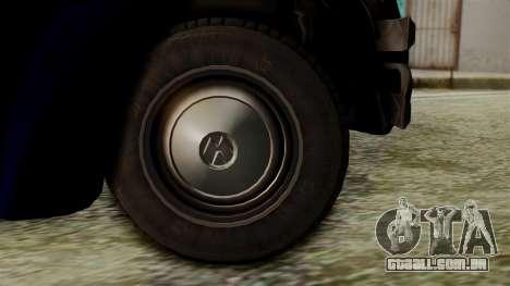 Volkswagen Beetle 1963 Policia Federal para GTA San Andreas traseira esquerda vista