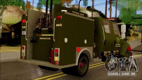 SANG Combat Rescue International para GTA San Andreas esquerda vista