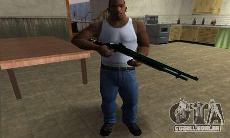 Green Guy Shotgun para GTA San Andreas terceira tela
