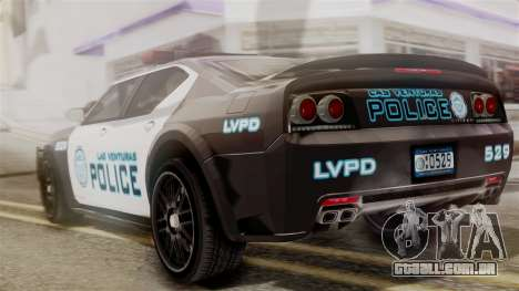 Hunter Citizen from Burnout Paradise Police LV para GTA San Andreas esquerda vista