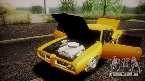 Pontiac GTO 1968 para GTA San Andreas vista interior