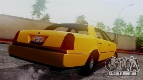Washington Taxi para GTA San Andreas esquerda vista