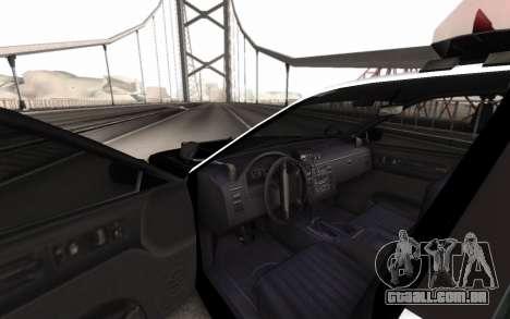 GTA 5 Stanier Police para GTA San Andreas traseira esquerda vista