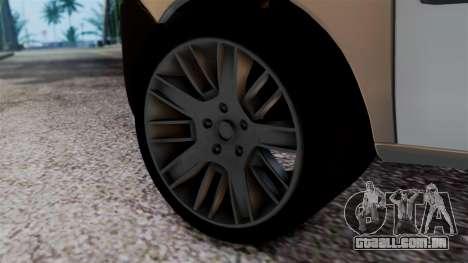 Fiat Doblo PPX para GTA San Andreas traseira esquerda vista