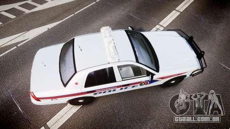 Ford Crown Victoria Bohan Police [ELS] para GTA 4 vista direita