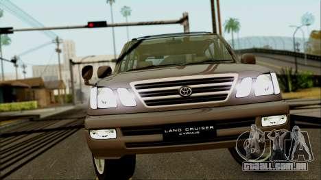 Toyota Land Cruiser Cygnus para GTA San Andreas vista traseira