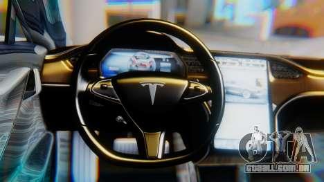 Tesla Model S para GTA San Andreas vista direita