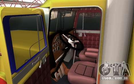 ShockWave Jet Truck para GTA San Andreas traseira esquerda vista