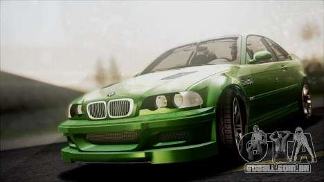 BMW M3 GTR Street Edition para GTA San Andreas vista superior