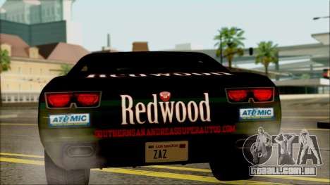 GTA 5 Bravado Gauntlet Redwood HQLM para GTA San Andreas vista direita