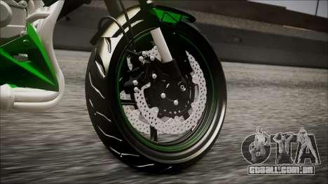 Kawasaki Z800 Monster Energy para GTA San Andreas traseira esquerda vista