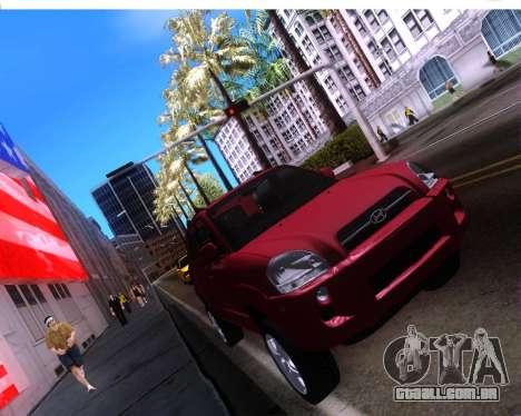 Hyundai Tucson para GTA San Andreas vista traseira