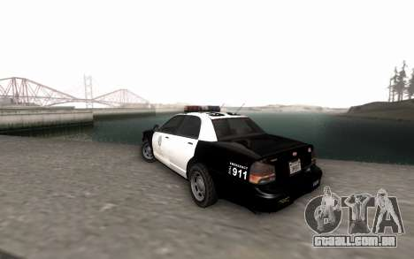 GTA 5 Stanier Police para GTA San Andreas esquerda vista