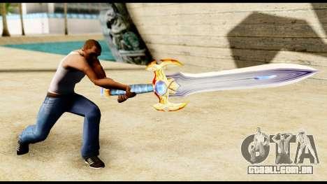Espada do paladin para GTA San Andreas terceira tela