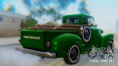 Chevrolet 3100 1951 Work para GTA San Andreas esquerda vista