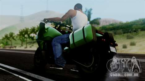 Dinka Vindicator GTA 5 Plate para GTA San Andreas traseira esquerda vista