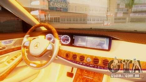 Mercedes-Benz S63 W222 AMG para GTA San Andreas vista direita