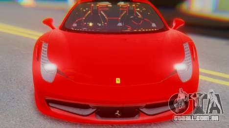 Ferrari 458 Italia para GTA San Andreas vista traseira