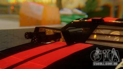 Shelby GT500 Death Race para GTA San Andreas vista traseira