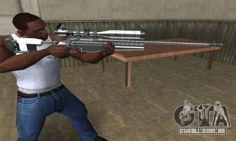 Full Silver Sniper Rifle para GTA San Andreas