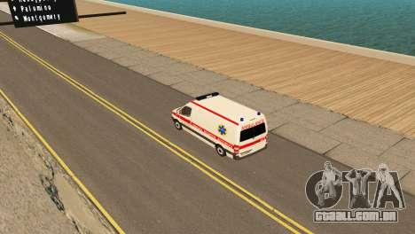 Mercedes-Benz Sprinter Ambulância Ucrânia para GTA San Andreas vista direita