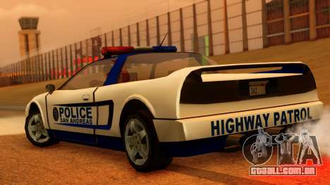 Police Infernus para GTA San Andreas esquerda vista
