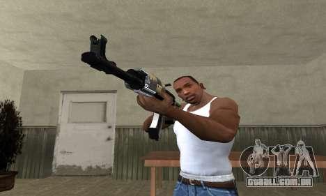 Cool Black AK-47 para GTA San Andreas segunda tela