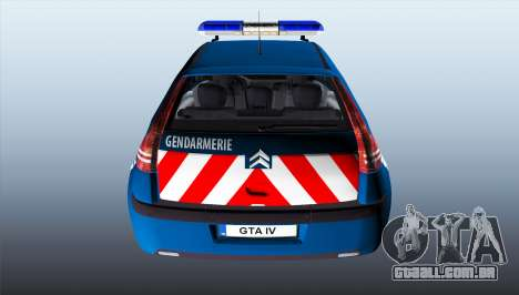Citroen C4 Gendarmerie [ELS] para GTA 4 traseira esquerda vista