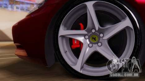 Ferrari California v2.0 para GTA San Andreas vista direita
