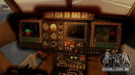 PZL W-3PL Grouse para GTA San Andreas vista traseira