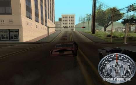 Ferro velocímetro para GTA San Andreas por diante tela