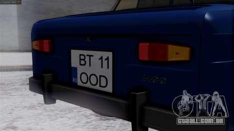 Dacia 1100 para GTA San Andreas vista traseira