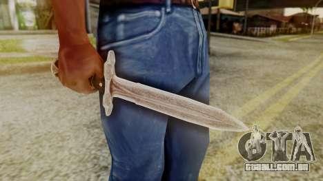 Iron Dagger para GTA San Andreas segunda tela