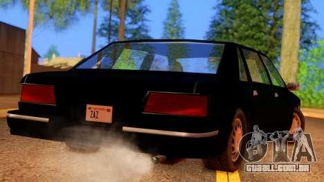 FBI Undercover Unmarked Premier para GTA San Andreas esquerda vista