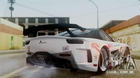 Mazda RX-7 Veilside Mugi Itasha para GTA San Andreas esquerda vista