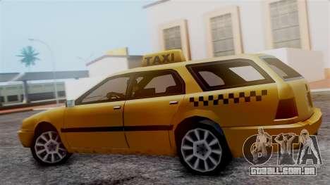 Stratum Taxi para GTA San Andreas traseira esquerda vista