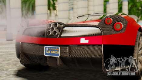 Pegassi Osyra para GTA San Andreas vista traseira