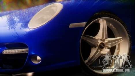 Porsche 911 2010 Cabrio para GTA San Andreas traseira esquerda vista