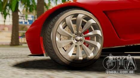 Pegassi Osyra para GTA San Andreas traseira esquerda vista