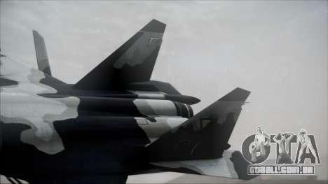 SU-47 Berkut Grabacr Ace Combat 5 para GTA San Andreas traseira esquerda vista