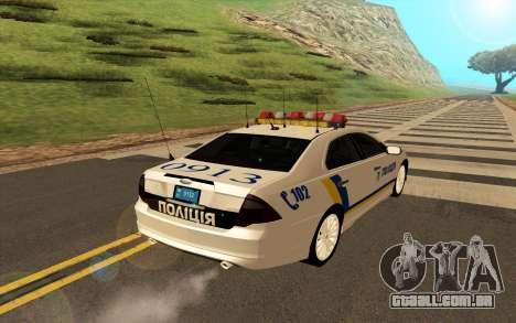 Ford Taurus Ukraine Police para GTA San Andreas vista direita