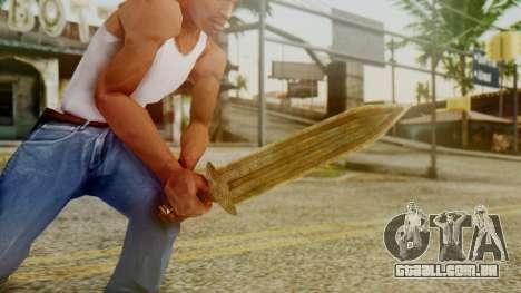 Dwarven Dagger para GTA San Andreas terceira tela