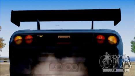McLaren F1 LM 1995 para GTA San Andreas vista direita