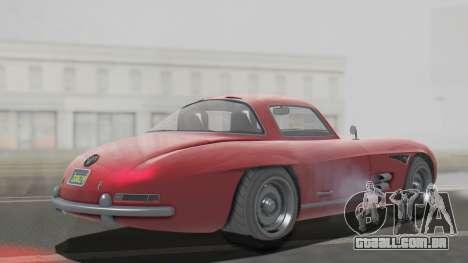 GTA 5 Benefactor Stirling para GTA San Andreas traseira esquerda vista